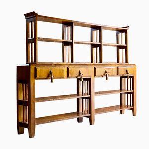Art Deco 2-Tier Walnut Bookcase, 1930s