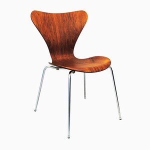 Rosewood Butterfly Side Chair by Arne Jacobsen for Fritz Hansen, 1960s