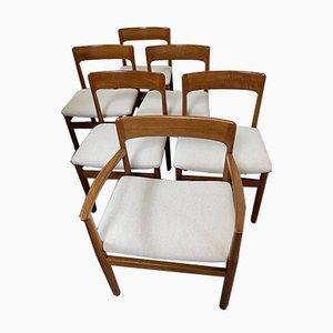 Poltrona e cinque sedie da pranzo di Niels Otto Møller, 1964