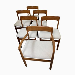 Vintage Carver & 5 Dining Chairs Set by Niels Otto Møller, 1964