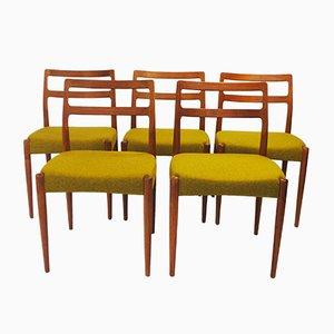 Chaises de Salle à Manger Anne par Johannes Andersen pour Uldum Møbelfabrik, 1960s, Set de 5