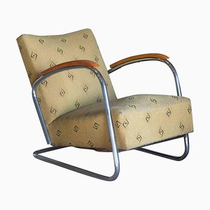 Vintage Tubular Easy Chair, 1930s