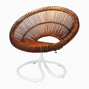 Vintage Rattan Chair by Janine Abraham & Dirk Jan Rol, 1960s