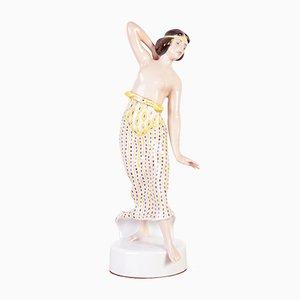 Porzellanskulptur einer ionischen Tänzerin von Rosenthal, 1930er