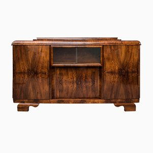 Art Deco Walnut Veneer Buffet
