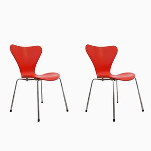 Model 3107 Butterfly Chairs by Arne Jacobsen for Fritz Hansen, 1996, Set of 2