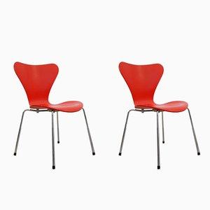 Modell 3107 Butterfly Stühle von Arne Jacobsen für Fritz Hansen, 1996, 2er Set