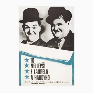 Vintage The Best of Laurel and Hardy Movie Poster by Petr Hampl, 1978
