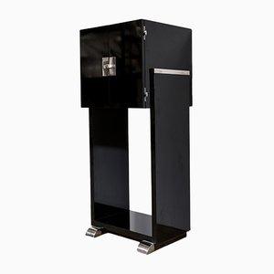 Mueble estilo Art Déco lacado en negro piano, años 60