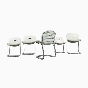 Italian Sabrina Chairs by Gastone Rinaldi for Rima, 1970s, Set of 5