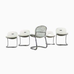 Italian Sabrina Chairs by Gastone Rinaldi for Rima, 1970s, Set of 5