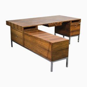 Großer Schreibtisch aus Palisander mit Kanzel und Sideboard, 1960er
