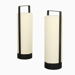 French Tube Lamps, 1950s, Set of 2