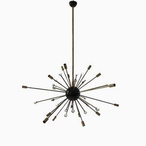Lustre Sputnik à 32 Bras Mid-Century, 1950s