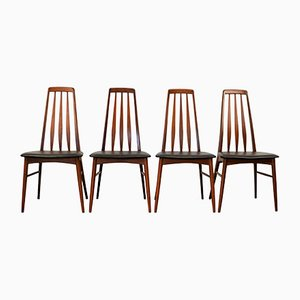Eva Esszimmerstühle aus Teak von Niels Koefoed für Hornslet Møbelfabrik, 1960er, 4er Set
