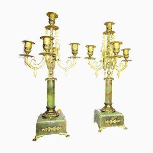 Antique Napoleon Style Candlesticks, Set of 2