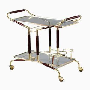 Vintage Italian Serving Bar Cart by Cesare Lacca, 1950s