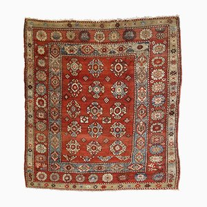 Antique Turkish Melas Square Rug, 1880s