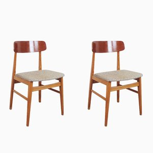 Danish Teak Chairs, 1950s, Set of 2