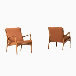 Easy Chairs by Erik Andersen & Palle Pedersen for Horsens, 1960s, Set of 2