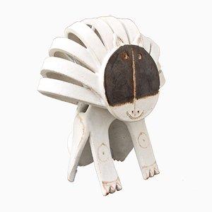 Ceramic Lion Sculpture by Bruno Gambone, 1980s