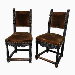 Skulpturale Stühle, 1910er, 2er Set