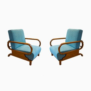 Art Deco Adjustable Armchairs, 1930s, Set of 2