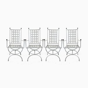 Garden Armchairs, 1950s, Set of 4