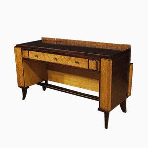 Italienischer Art Deco Schreibtisch aus Holz, 1950er