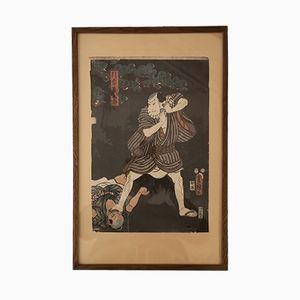 Antique Japanese Print by Utagawa Kunisada