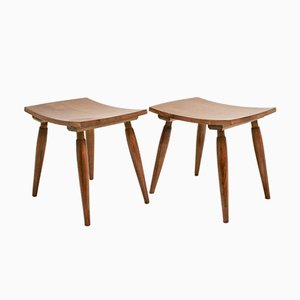 Viennese Cherry Stools, 1950s, Set of 2