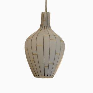 Italian Opaline Glass Pendant Lamp, 1950s