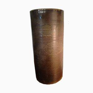 Jarrón grande de cerámica de Alessio Tasca, años 50