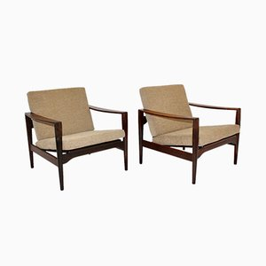Rosewood Lounge Chairs by Arne Wahl Iversen, 1960s, Set of 2