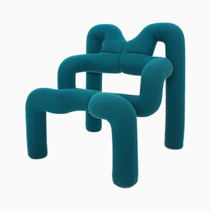 Model Ekstrem Green Armchair by Terje Ekstrom for Stokke, 1972