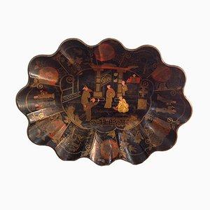 Cuenco chino lacado, siglo XIX