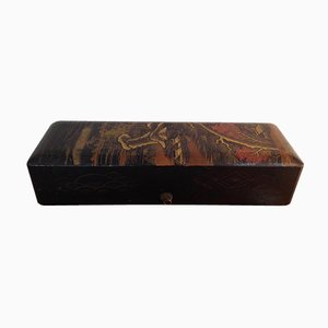 Japanese Fujiyama Lacquer Box, 1930s