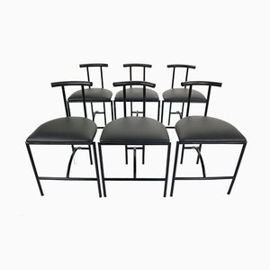 Tokyo Chairs by Rodney Kinsman for Bieffeplast, 1985s, Set of 6