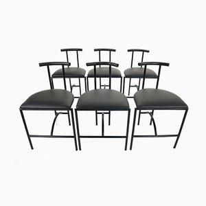Tokyo Chairs by Rodney Kinsman for Bieffeplast, 1985s, Set of 6