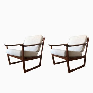 FD130 Easy Chairs by Peter Hvidt & Orla Mølgaard-Nielsen for France & Søn, 1960s, Set of 2