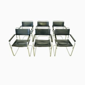 Model S34 Desk Chairs by Mart Stam for Thonet, 1927, Set of 6