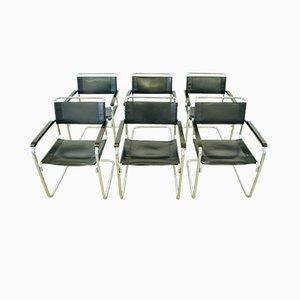 Modell S34 Schreibtischstühle von Mart Stam für Thonet, 1927, 6er Set