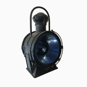 French Railway Lantern Lamp, 1940s