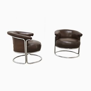 Danish Armchairs by Gae Aulenti for Fritz Hansen, 1950s, Set of 2