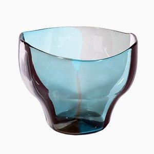 Jarrón serie A Spicchi Mid-Century de cristal de Murano de Fulvio Bianconi para Venini, 1953