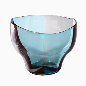 Mid-Century Murano Glass A Spicchi Series Vase by Fulvio Bianconi for Venini, 1953