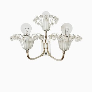 Silver-Plated Floral Wall Light by Emil Stejnar for Rupert Nikoll, 1950s