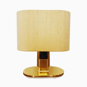 Golden Brass Table Lamp from Staff, 1960s