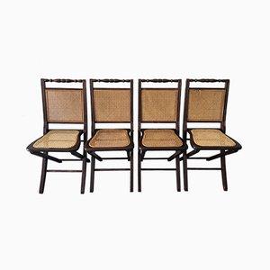 Chaises Pliantes, France, 1960s, Set de 4