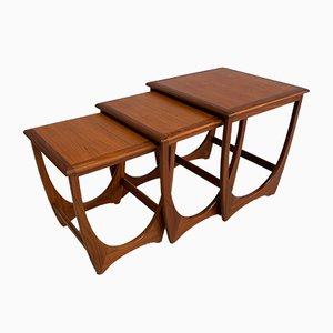 Tavolini ad incastro in teak di G-Plan, anni '60